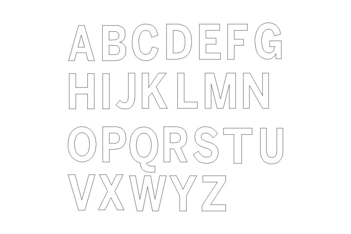 large wooden letters - Block font