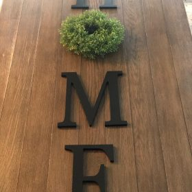 HOME Sign - HOME Letters With Wreath – Painted Home Sign With Wreath for Wall Decor – Wooden Letter Farmhouse Decor photo review